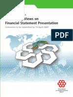 Preliminary Views on Financial Statements Presentation