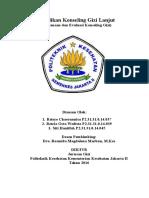 Pelaksanaan Dan Evaluasi Konseling Gizi