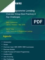 SME Programme Lending