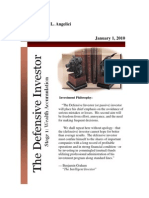Defensive Investor Newsletter (January 1, 2010)