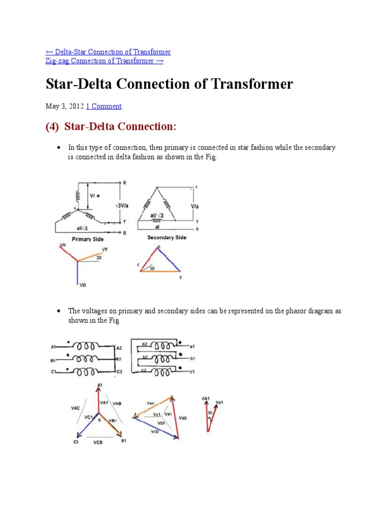 Star Delta Connection | Transformer | Electrical Engineering