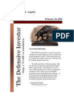 Defensive Investor Newsletter (February 28, 2010)