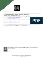 A Strategic Framework for Customer Relationship