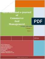 International e-Journal of Commerce and Management Vol-2 Issue-1