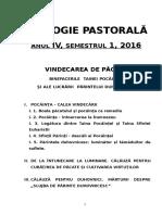 Curs Pastorala IV,1 2016