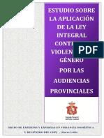 Estudio sobre la aplicación de la Ley Integral contra la Violencia de Género