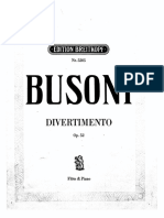 Divertimento - F. Busoni