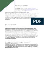 Cara Mengoperasikan Microsoft Power Point 2007