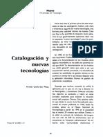 Catalogacion y Nuevas Tecnologias