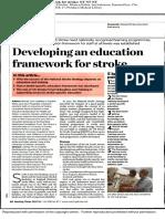 Education Framework for Stroke