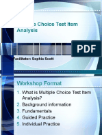Multiple Choice Test Item Analysis