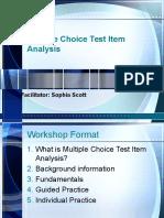 Multiple Choice Test Item Analysis