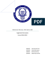 Memoria Técnica - Ave Serie 100