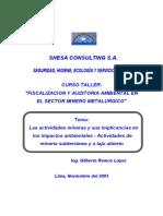 FISCALIZACION Y AUDITORIA AMBIENTAL EN EL SECTOR MINERO METALURGICO