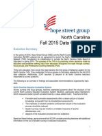 NC Fall 2015 Data Collection Report