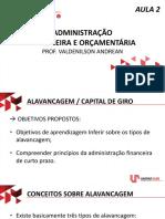 Administração Financeira e Orçamentária - AULA AO VIVO 2