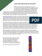 Teknik Hit Obat Nyamuk Alternatif Keluarga Nusantara