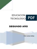CUADERNILLO EDUCACION TECNOLOGICA 2° AÑO