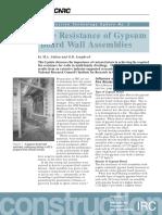 Fire Resistance of Gypsum Board Wall Assemblies