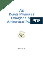 As Duas Maiores Orações Do Apóstolo Paulo