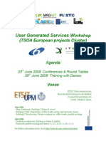 User Generated Services Workshop