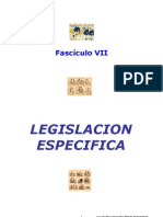 Legislacion especifica (fasciculo 7)