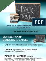 integrating core democratic values in social studies