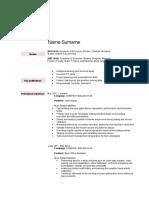 CV Example 2