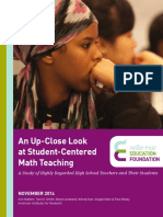 An UpClose Look at Student Centered Math Teaching (1)
