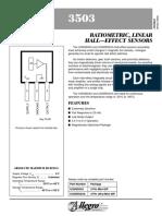 Ratiometric, Linear, Efect Hall 3503 English