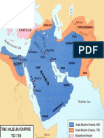 Map - Arab-Muslim Empire to 750 AD