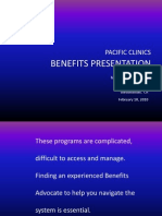 Pacific Clinics Benefits Advocacy Certification Course Introduction