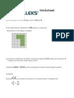 Worksheet Math