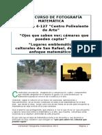Bases y Condiciones Concurso de Fotografía Matemática