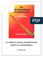 Le Christianisme Traditionnel Verite Ou Tromperie
