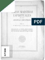Obras Maestras Espirituales de Los Jesuitas Espanoles