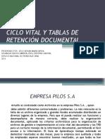 Ciclo Vital yTablasde RetenciónDocumental