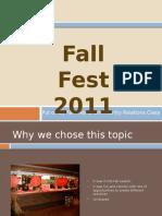 fall fest 2011 ppt