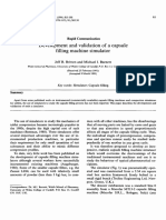 Development and validation of a capsule filling machine simulator