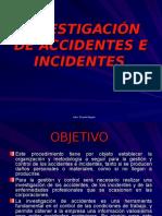 Accidentes, incidentes