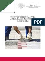Atentas Sugerencias Autoridades Municipales Electas 2015