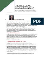 Torque Agitator Calculation