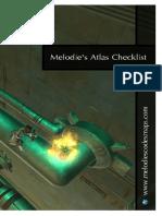 Melodie's Codex Maps - Checklist