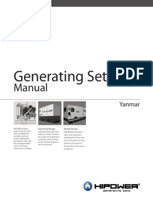 HIPOWER Yanmar Generators Manual | Cable | Electric Power System