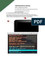 Configuración Tabletas
