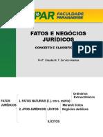 Fatos e Negócios Jurídicos - Conceito-classificação-elementos Essenciais