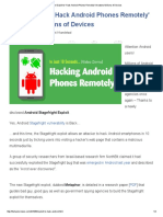 New Exploit to 'Hack Android Phones Remotely' Threatens Millions of Devices