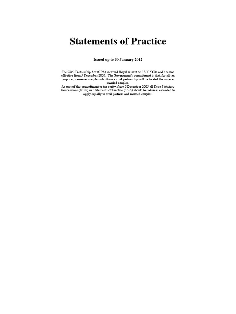 Hmrc Statement Of Practice Pdf Value Added Tax Expense