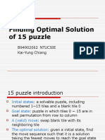 Finding Optimal Solution of 15 Puzzle