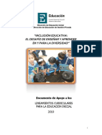 Inclusión Educativa - El Desafío de Enseñar y Aprender en y Para La Diversidad